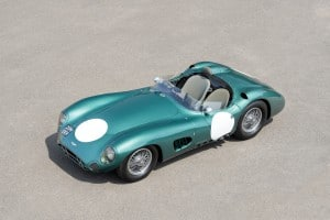 1956 Aston Martin DBR1. Auctioned by RM Sotheby's at 18 August 2017 for 22,550,000 dollar : 17,514,500 pound. Photo Tim Scott, RM Sotheby's. This was the most expensive car auctioned in 2017.