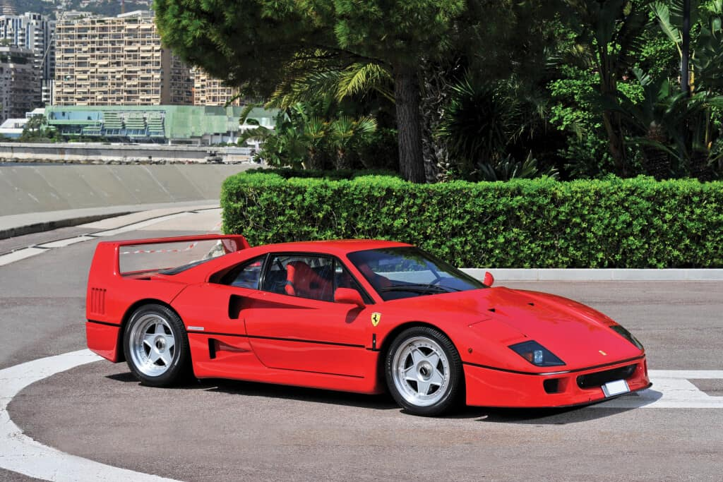 1990 Ferrari F40, auctioned by RM Sotheby's in September 2016 for £ 924,000. Photo RM Sotheby's, Tim Scott