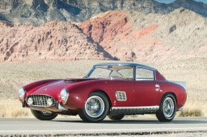 1957 Ferrari 410 Superamerica, auctioned by RM Sotheby's in January 2012 for £1,174,500. Photo RM Sotheby's:Darin Schnabel. Once only the chassis survived, the car could be rebuild.