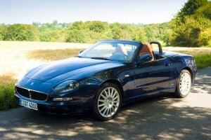 2001 Maserati 4200 GT Spyder, auctioned by Bonhams in September 2001 for £ 27,250. Photo Bonhams