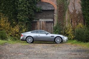 2003 Aston Martin V12 Vanquish, auctioned by Bonhams in December 2018. Photo Bonhams