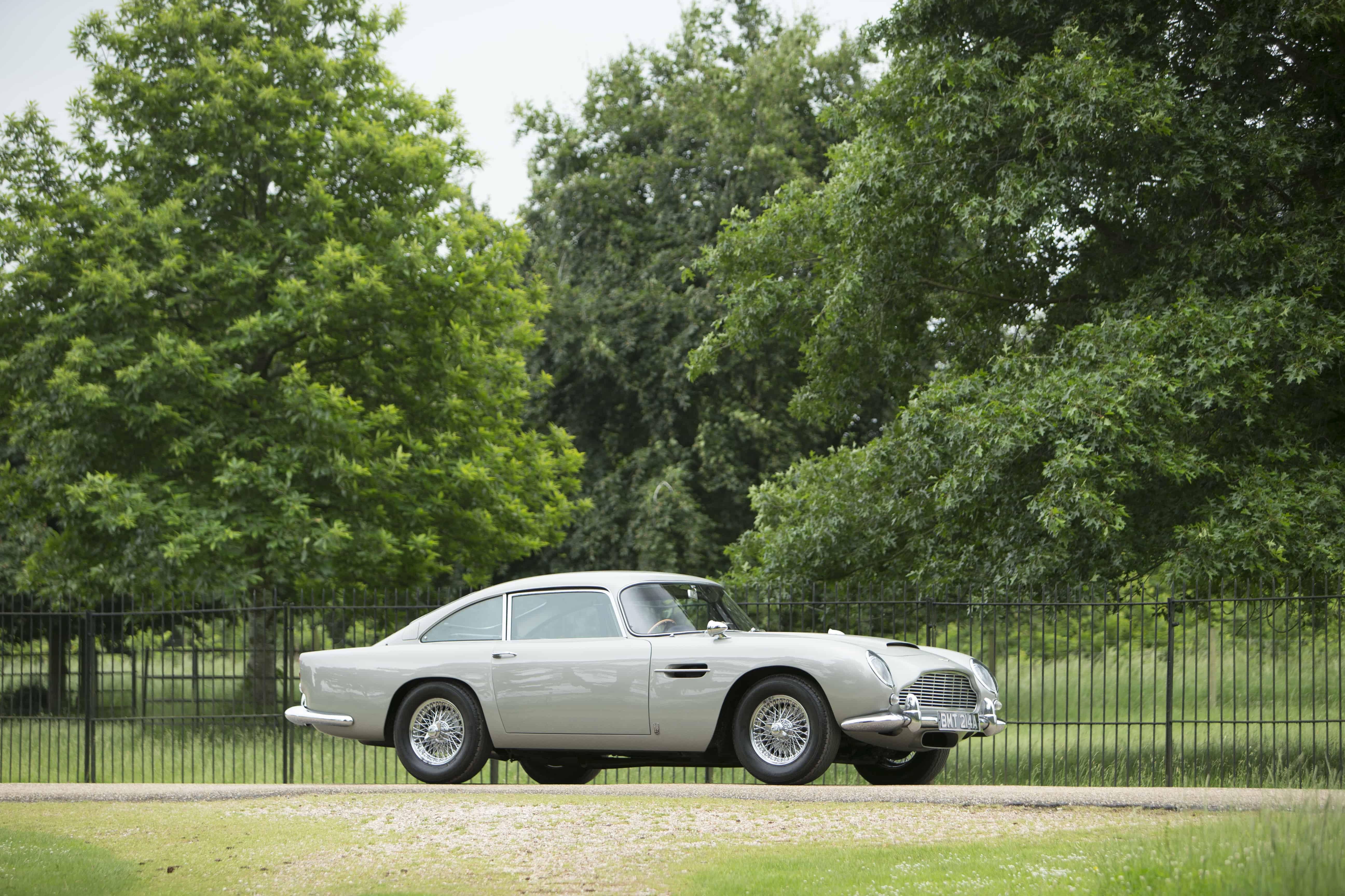 1965 Aston Martin DB5, ex GoldenEye, auctioned by Bonhams in July 2018 for £ 1,961,500. Photo Bonhams
