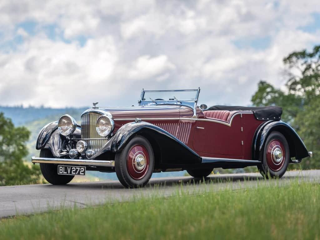 1936 Bentley 4.25 Liter Tourer by Vanden Plas, auctioned by Bonhams in 2016 for £504.000