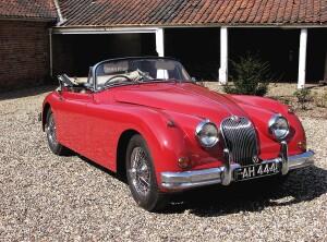 1960 Jaguar XK150S 3.8 Litre DHC, auctioned by Bonhams in June 2014 for £ 203,100. Photo Bonhams