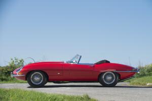 1961 Jaguar E-Type 'Flat Floor' Roadster, auctioned by Bonhams in June 2016 for £ 225,000. Photo Bonhams