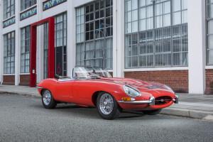 1967 Jaguar E-Type S1 4.2 Litre Roadster, auctioned by Bonhams in June 2015 for £ 186,300. Photo Bonhams
